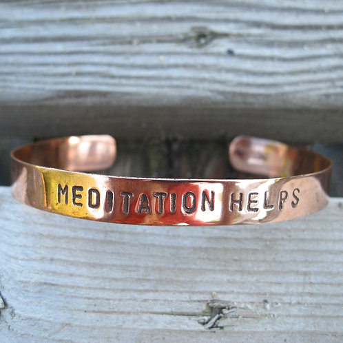 """Recycled Copper """"Meditation Helps"""""""