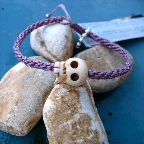 One skull animal Bone Purple