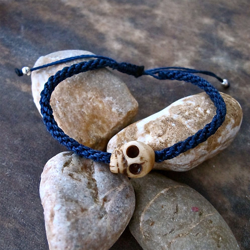 One skull animal Bone Blue