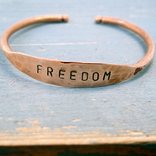 "Recycled Copper  ""Freedom"""