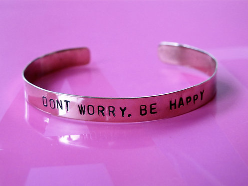 "Alpaca silver ""Dont worry, be happy"""