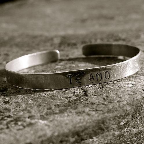 "Alpaca silver ""Te Amo"""
