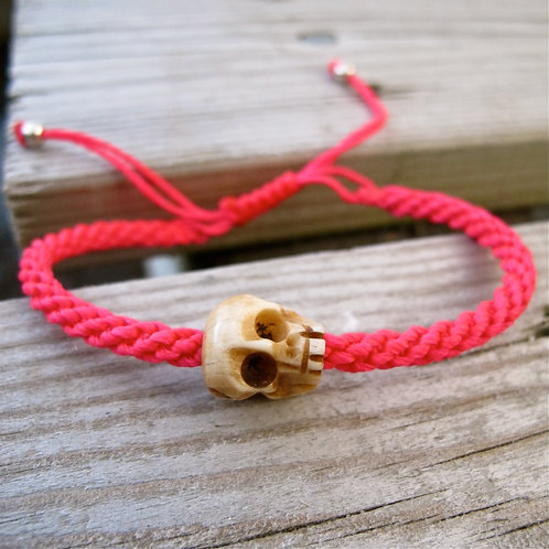 One skull animal NEON PINK