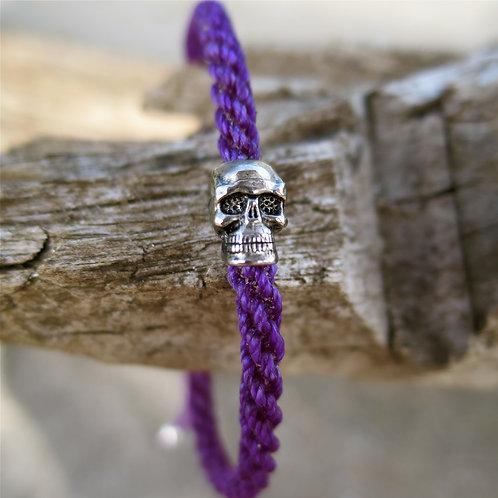 Eternal life. Purple skull bracelet