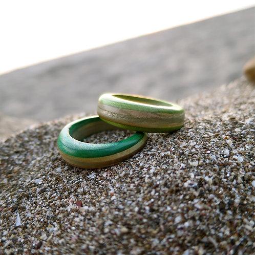 Recycled skateboard deck light green