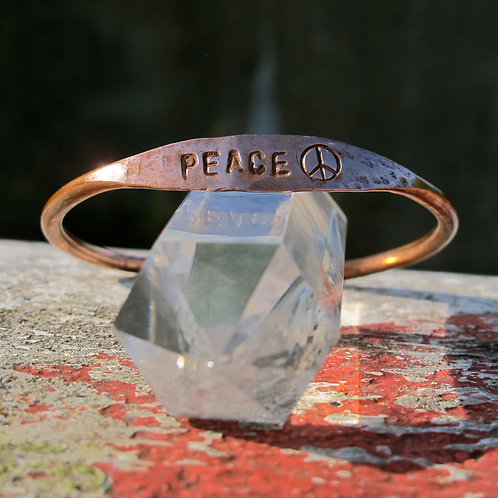 """Recycled Copper """"Peace"""""""