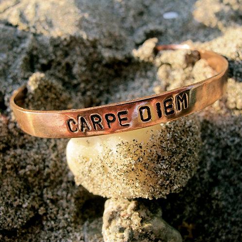"""Recycled Copper """"Carpe Diem"""""""