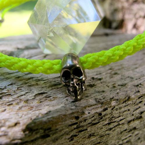 One skull pewter NEON YELLOW