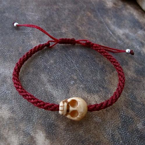 One skull animal Bone Red