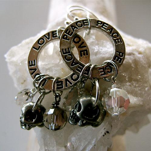 Swarovski skulls and crystals