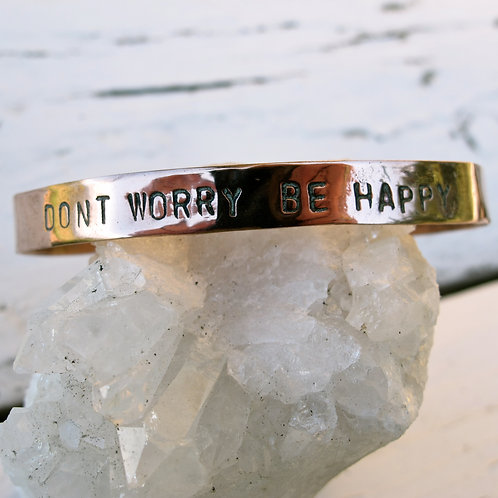 """Recycled Copper """"Don't worry be happy"""""""