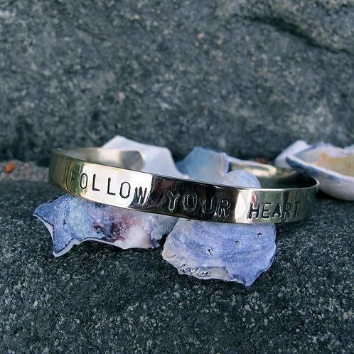"""Alpaca silver """"Follow your heart"""""""