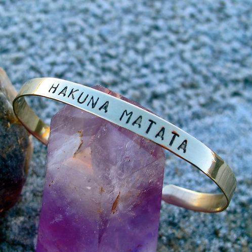 "Alpaca silver ""Hakuna Matata"""