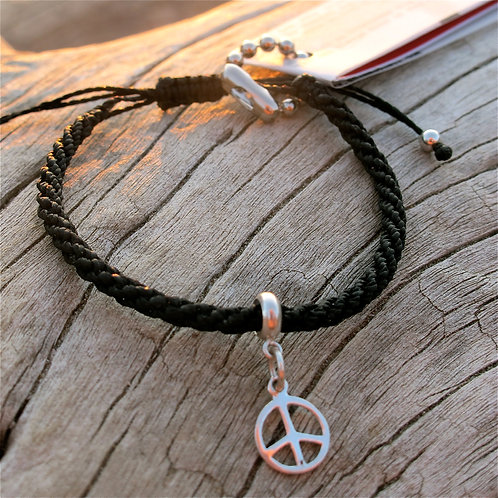 925 Sterling silver peace