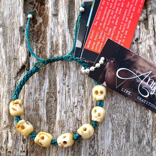 Seven skull animal Bone turquoise