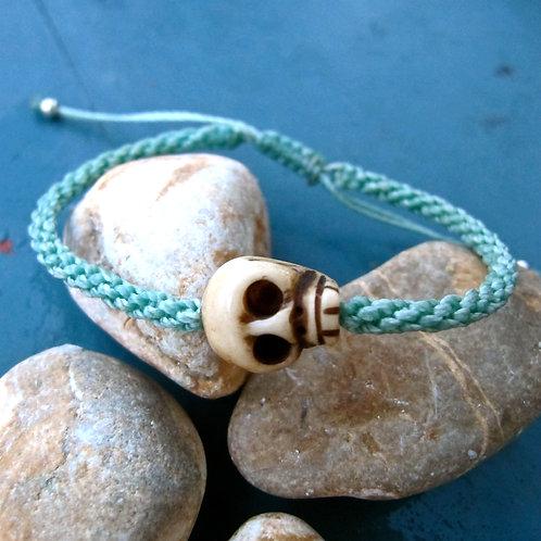 One skull animal Bone Light turquoise