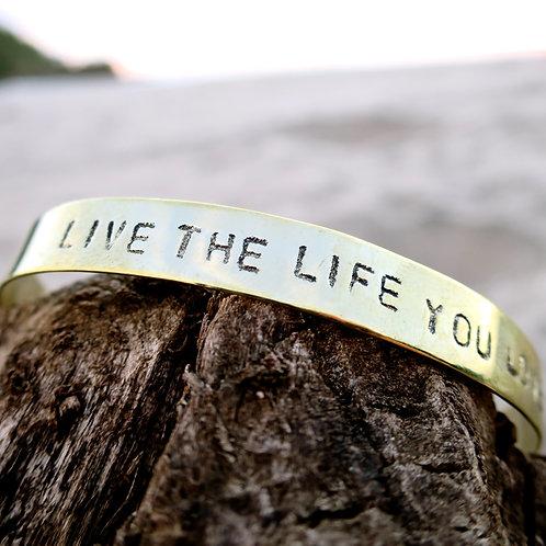 "Alpaca silver "" Live the life you love"""