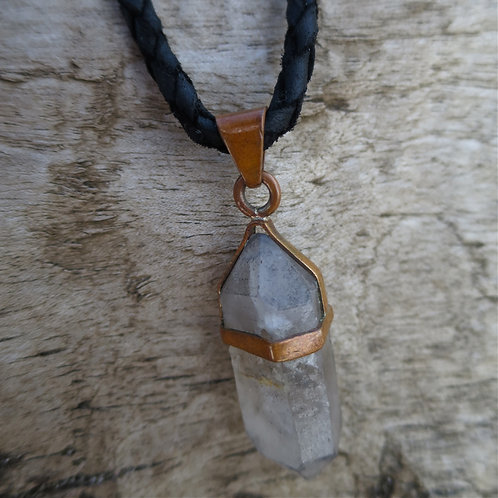 Copper pendant & Crystal quartz