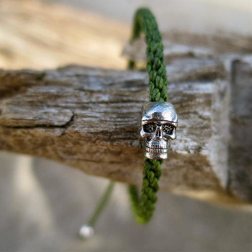 Eternal life. Forrest green skull bracelet