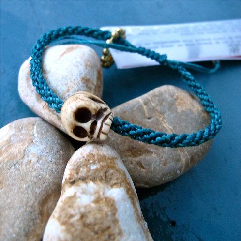 One skull animal Bone Dark turquoise