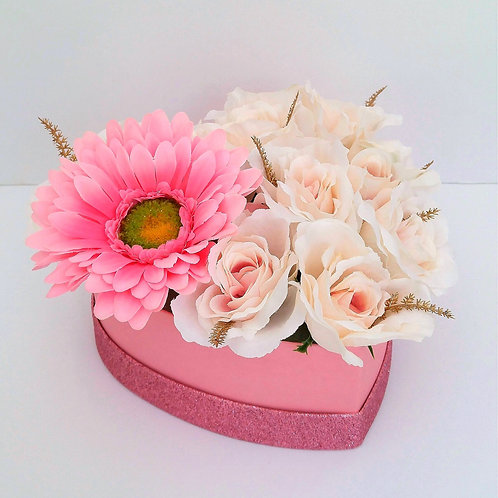 Gerbera & Roses in Glitter Box