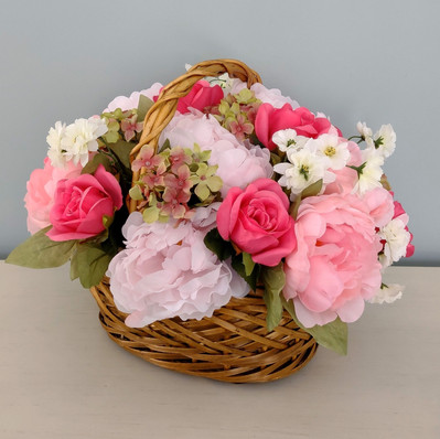 Floral Arrangement with Roses and Peonies