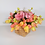 Thumbnail: Small Basket with Tulips & Hydrangea
