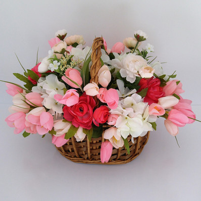 Floral Arrangement with Pink Tulips
