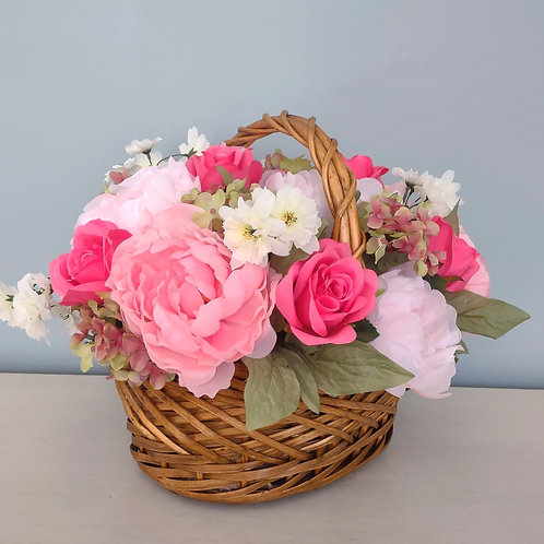 Floral Arrangement with Peonies and Roses