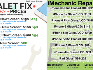 Bloomington iPhone Repair Price Comparison