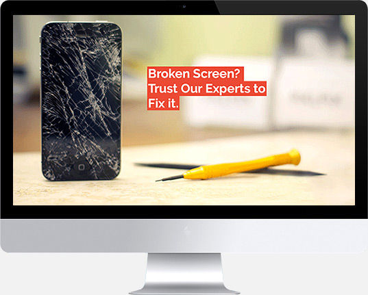 Cracked iPhone LCD Indiana University Repair