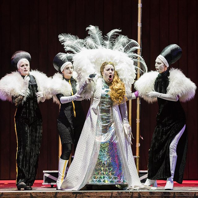 Nazan Fikret as Queen of the Night in Opera På Skäret, 2019
