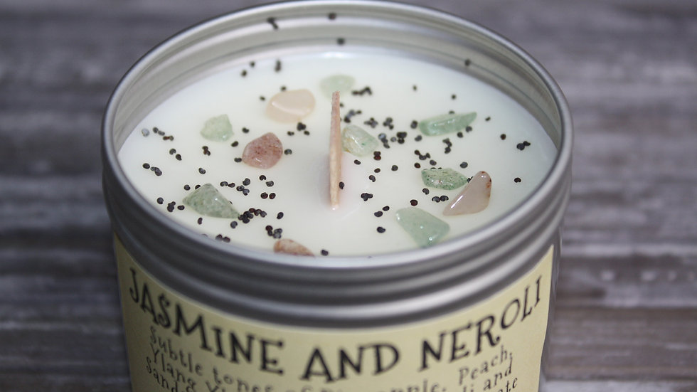 Jasmine and Neroli Soy Candle in a tin