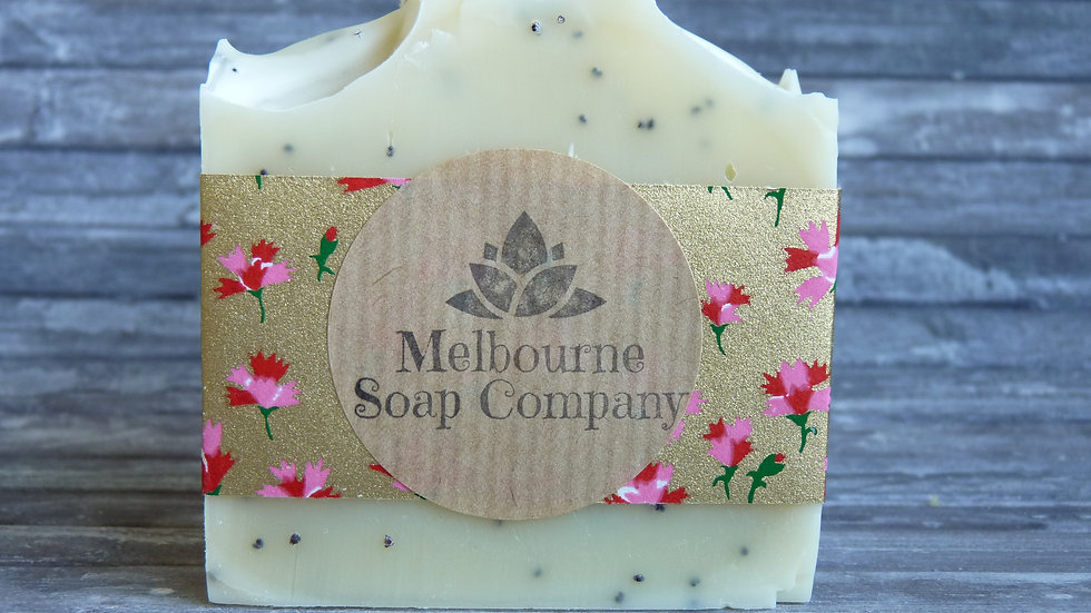 Grapefruit and Poppy Seed Soap