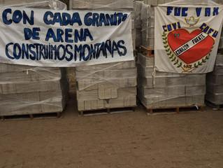Reclusos de Punta Rieles donan bloques hechos por ellos mismos