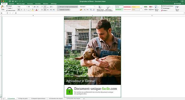 Document Unique Agriculteur et Eleveur - Illustration