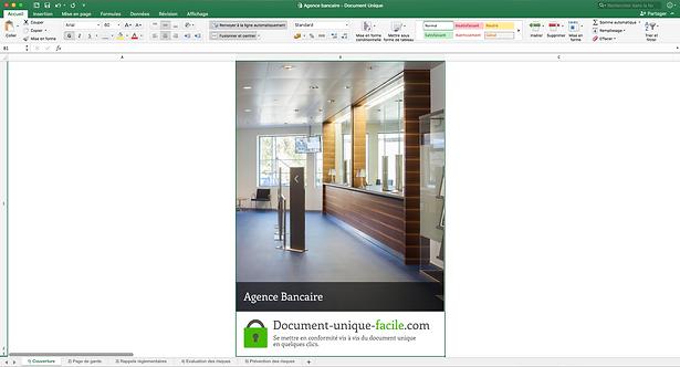 Document Unique Agence Bancaire - Illustration