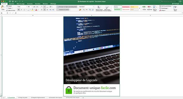 Document Unique développeur de logiciels informatiques - Illustration