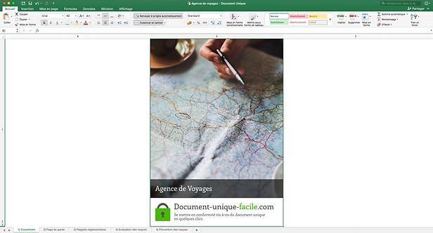 Document Unique Agence de Voyages - Illustration