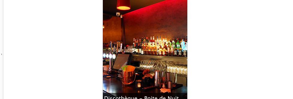 Document Unique Discothèque Boite de Nuit  - Illustration