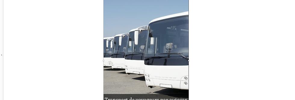 Document Unique Transporteur de voyageurs par autocar - Illustration