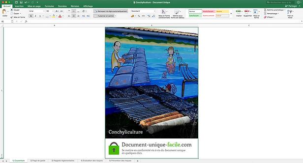Document Unique Conchyliculture - Illustration