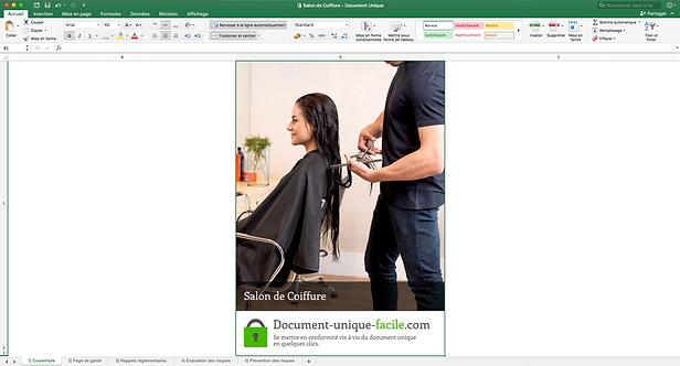 Document Unique Salon de Coiffure  - Illustration