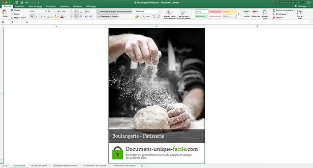Document Unique Boulangerie Patisserie - Illustration