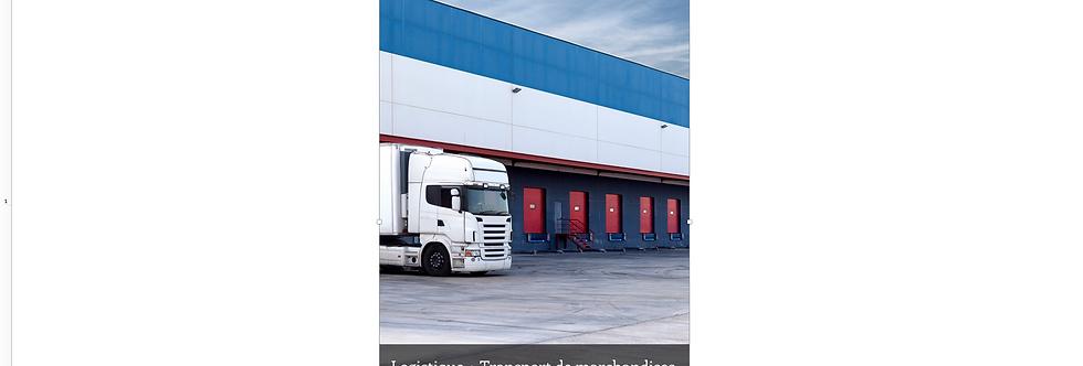 Document Unique Logistique + Transport de Marchandises - Illustration