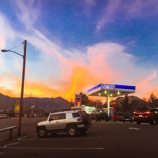 Gas Station Evening