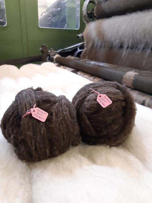 Brown Shetland Sliver (100g Approx)