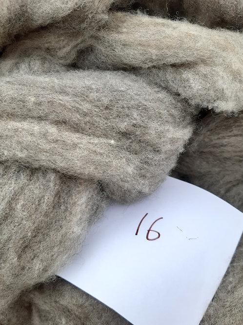 16 - 200g Pure British Hebridean / Alpaca Mix Light Grey Sliver