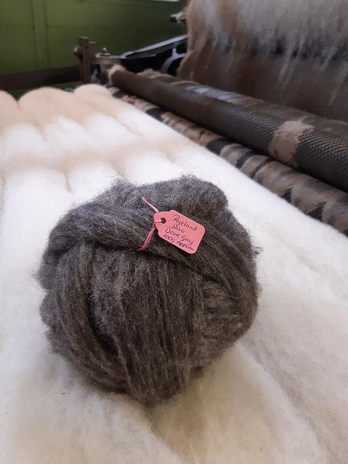 Dark Grey Ryeland Sliver (100g Approx)