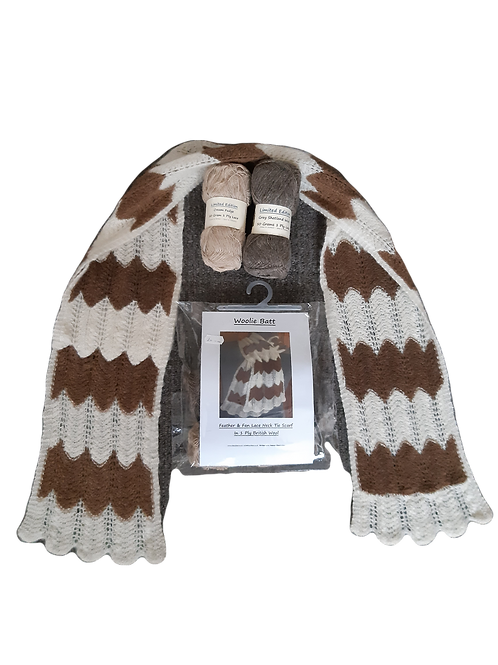 Feather and Fan Lace Scarf Kit